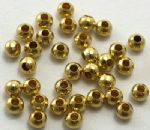 JW10791 Spacer Beads, Iron, Round, Golden, about 3.2mm in diameter, 3mm thick, hole: 1.2mm